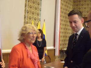 Pani Irena Kalita z Przewodniczącym Rady Miasta Marcinem Ociepą