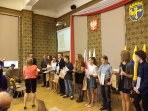 Wręczanie nagród laureatom konkursu